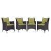 Convene Outdoor Patio Dining Armchair (Set of 4) - EEI-2190-EXP-SET