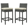 Sojourn Outdoor Patio Bar Stool - Sunbrella Antique Canvas Beige (Set of 2) - EEI-2195-CHC-BEI-SET