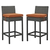Sojourn Outdoor Patio Bar Stool - Sunbrella Canvas Tuscan (Set of 2) - EEI-2195-CHC-TUS-SET