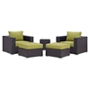 Convene 5 Pieces Outdoor Patio Sectional Set - EEI-2201-EXP-SET