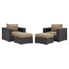 Convene 4 Pieces Outdoor Patio Sectional Set - EEI-2202-EXP-SET