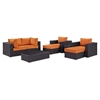 Convene 8 Pieces Outdoor Patio Sectional Set - EEI-2206-EXP-SET