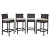 Convene Outdoor Patio Bar Stool (Set of 4) - EEI-2218-EXP-SET