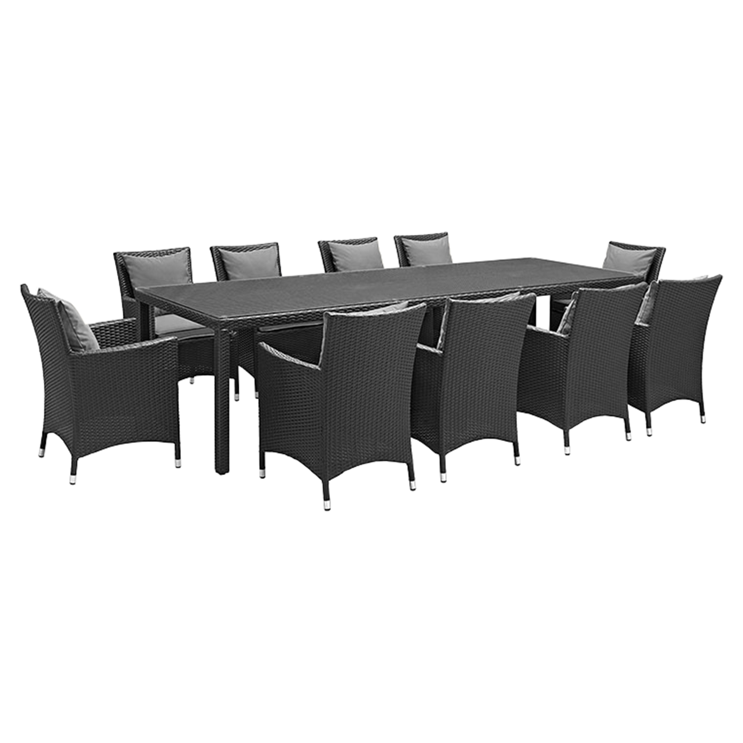 Convene 11 Pieces Patio Dining Set - EEI-2219-EXP-SET