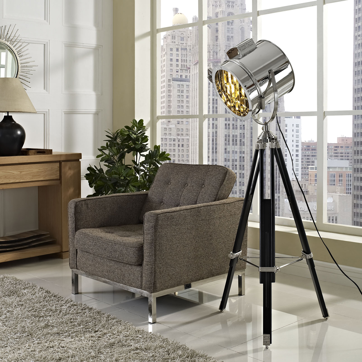 Beacon Floor Lamp - Black - EEI-224-BLK