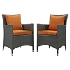 Sojourn Outdoor Patio Dining Armchair - Sunbrella Canvas Tuscan (Set of 2) - EEI-2242-CHC-TUS-SET