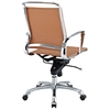 Vibe Modern Mid Back Office Chair - Chrome Frame, Tan - EEI-227-TAN