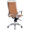 Vibe Modern High Back Office Chair - Chrome Frame, Tan - EEI-232-TAN