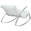 Canoo Button Tufted Rocker - Chrome Steel, White - EEI-235-WHI
