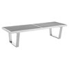 Sauna 5' Stainless Steel Bench - EEI-246-SLV