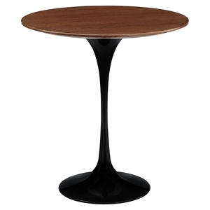 "Lippa 20"" Wood Side Table - Black"
