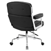 Remix Leatherette Office Chair - Button Tufted, Black - EEI-276-BLK