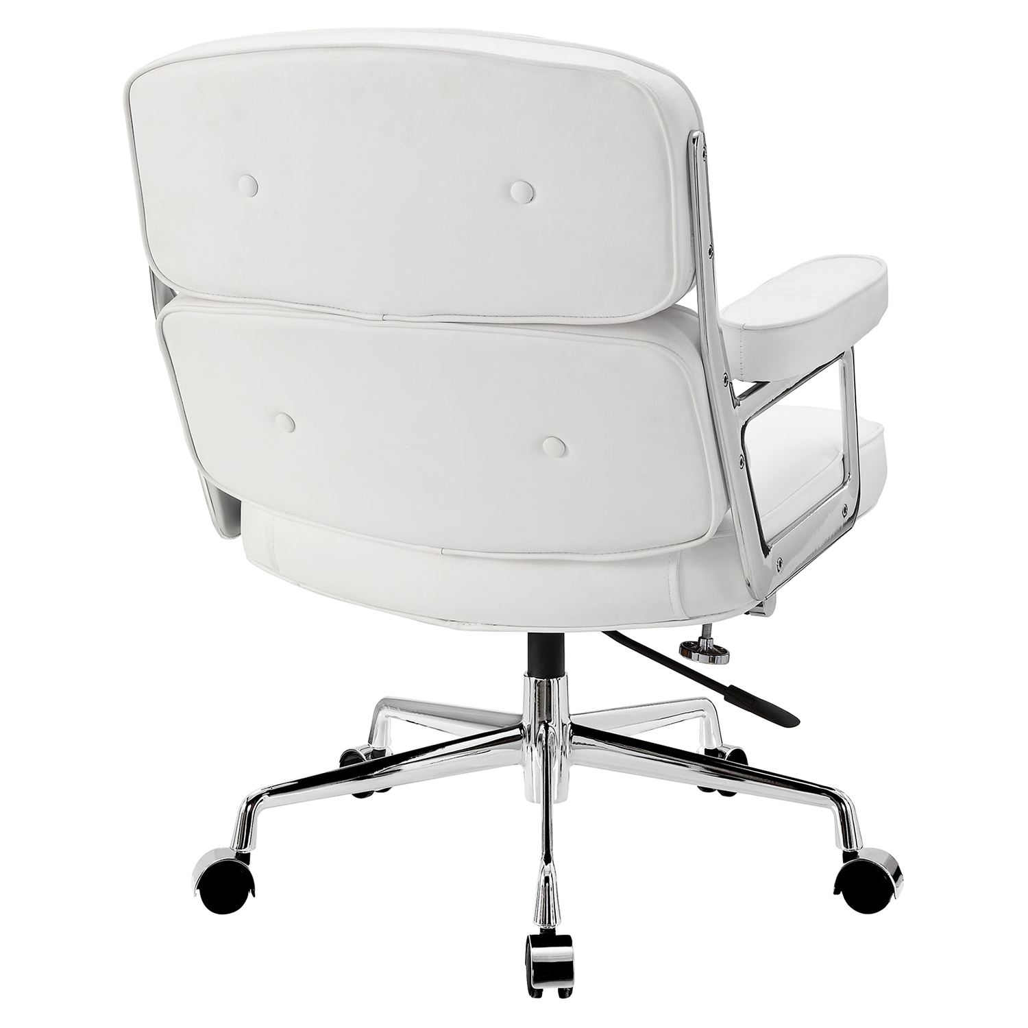 Remix Leatherette Office Chair - Button Tufted, White - EEI-276-WHI