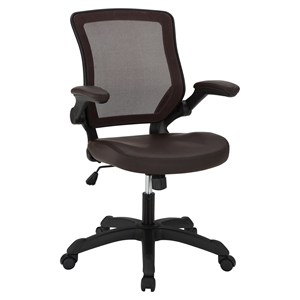 Veer Leatherette Office Chair - Brown