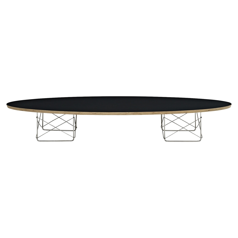 Surfboard oval coffee table black dcg stores for Surfboard coffee table