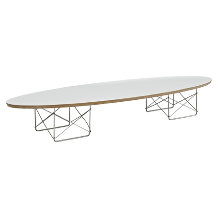 Surfboard Oval Coffee Table White DCG Stores