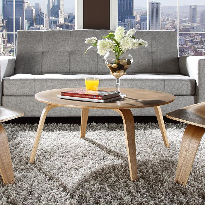 Molded Plywood Round Coffee Table - EEI-509
