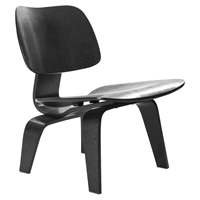 Fathom Wood Lounge Chair - Black