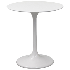 "Lippa Saarinen Inspired 28"" Fiberglass Round Dining Table in White"
