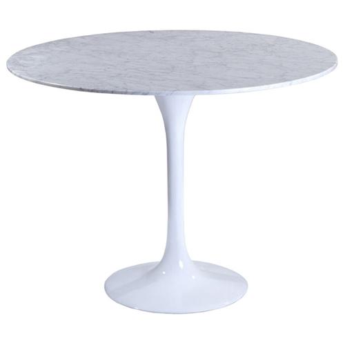 Lippa Saarinen Inspired 36 Inch Round Marble Top Dining