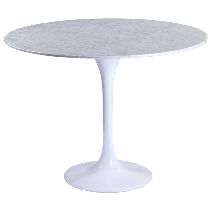 Lippa Saarinen Inspired 36 Inch Round Marble Top Dining  : eei 514 whi from www.dcgstores.com size 700 x 700 jpeg 44kB