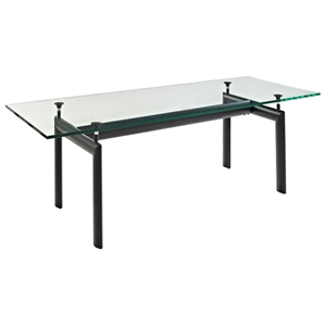 LC6 Rectangle Glass Top Dining Table