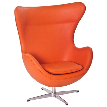 Arne Jacobsen Leather Egg Chair DCG Stores
