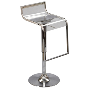 LEM Adjustable Height Clear Bar Stool