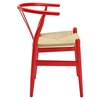 Amish Dining Wood Armchair - Red - EEI-552-RED