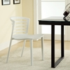Curvy Stackable White Plastic Chair - EEI-557-WHI