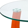 Teardrop Side Table with Round Glass Top - EEI-564