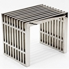 Gridiron Small Stainless Steel Bench - EEI-569-SLV
