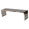 Gridiron Large Stainless Steel Bench - EEI-570-SLV