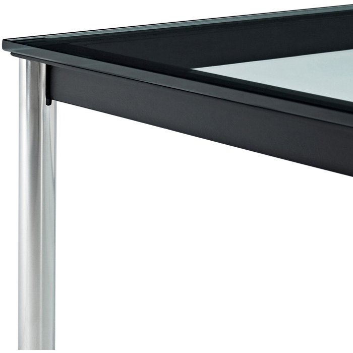 lc10 rectangle glass top coffee table dcg stores. Black Bedroom Furniture Sets. Home Design Ideas