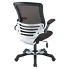 Edge Mesh Office Chair - Adjustable Height, Swivel, Brown - EEI-594-BRN