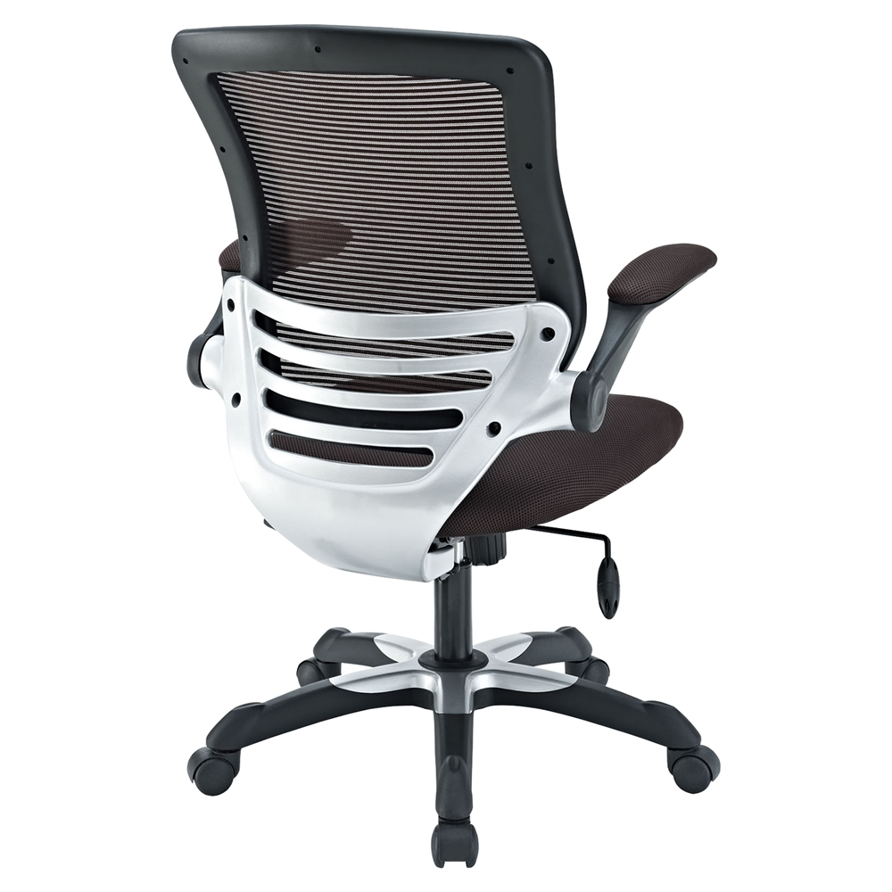 Edge Mesh Office Chair Adjustable Height Swivel Brown EEI 594