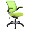 Edge Mesh Office Chair - Adjustable Height, Swivel, Green - EEI-594-GRN