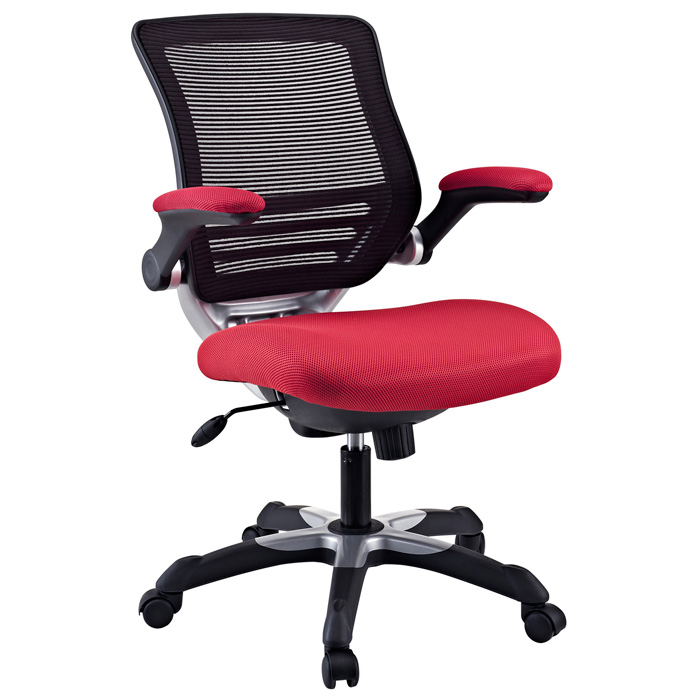 Edge Mesh Back Office Chair - Adjustable Height, Red - EEI-594-RED