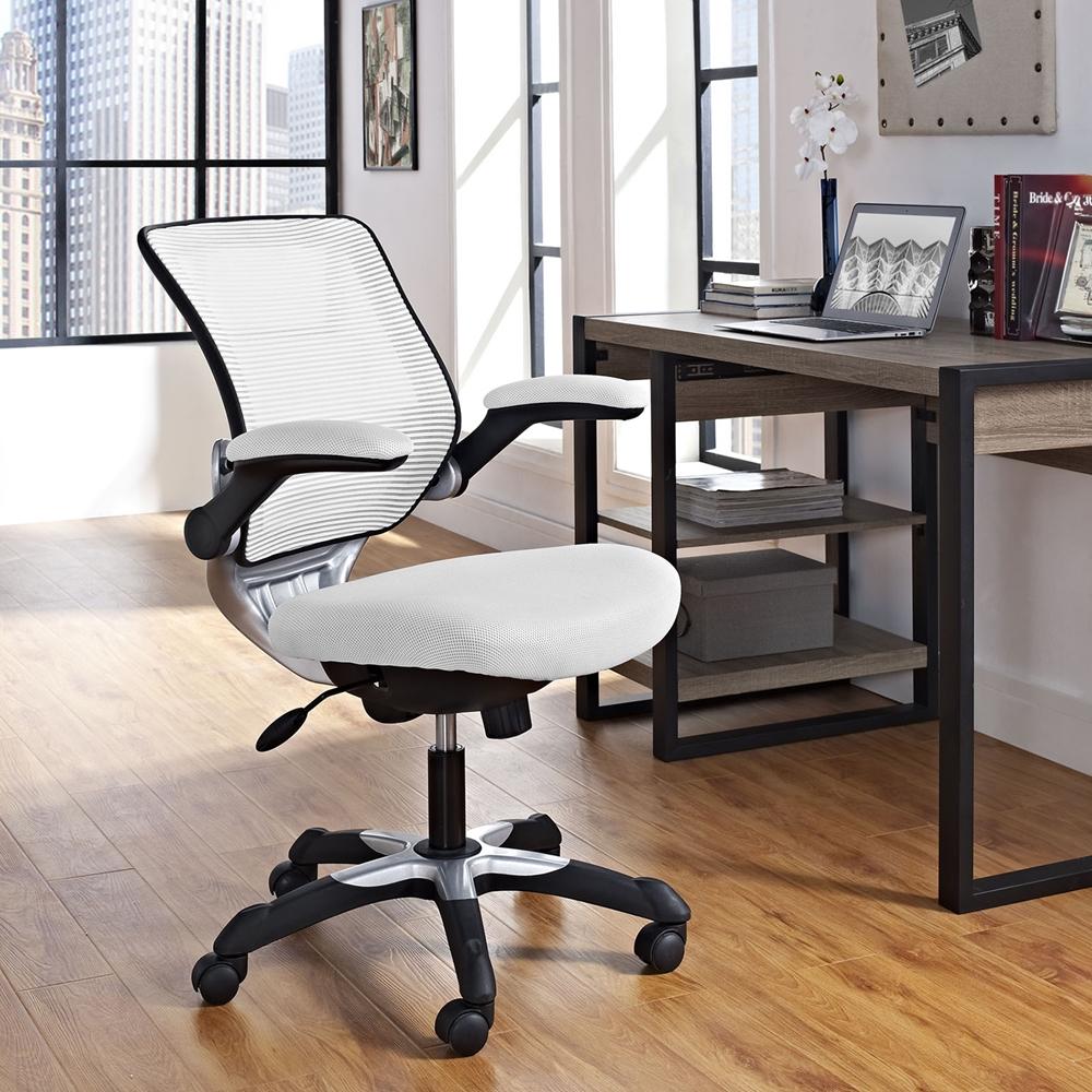 Edge Mesh Office Chair Adjustable Height Swivel White