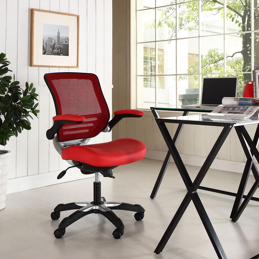 Edge Leatherette Office Chair Adjustable Height Swivel