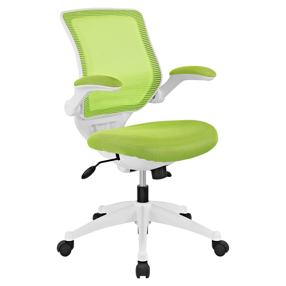Edge White Base Office Chair Adjustable Height Swivel