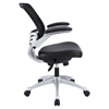 Edge Leather Office Chair - Adjustable Height, Swivel, Black - EEI-597-BLK