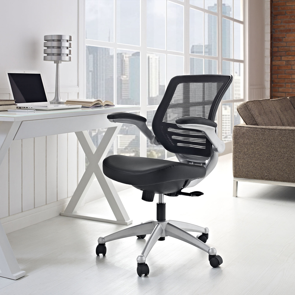 Edge Leather Office Chair Adjustable Height Swivel