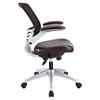 Edge Leather Office Chair - Adjustable Height, Swivel, Brown - EEI-597-BRN