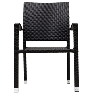 Bella Outdoor Wicker Dining Chair - Espresso
