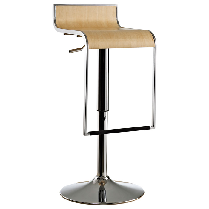 Lem Piston Style Bar Stool With Wood Seat Dcg Stores