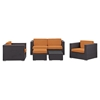 Malibu 5 Pieces Outdoor Patio Sofa Set - EEI-607-EXP-SET