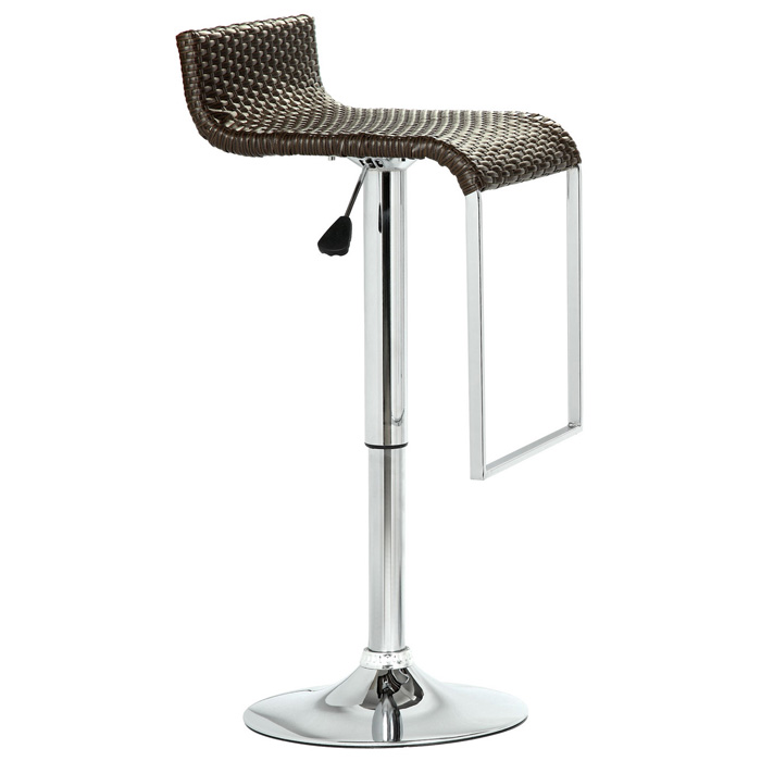 LEM Adjustable Height Rattan Bar Stool   EEI 618 DBR ...