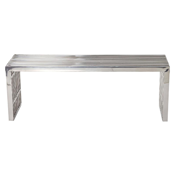 Gridiron Medium Stainless Steel Bench - EEI-625-SLV