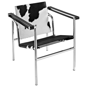 LC1 Basculant Lounge Chair - Black & White
